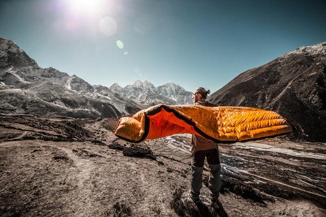 sleeping bags are on the survival gear list