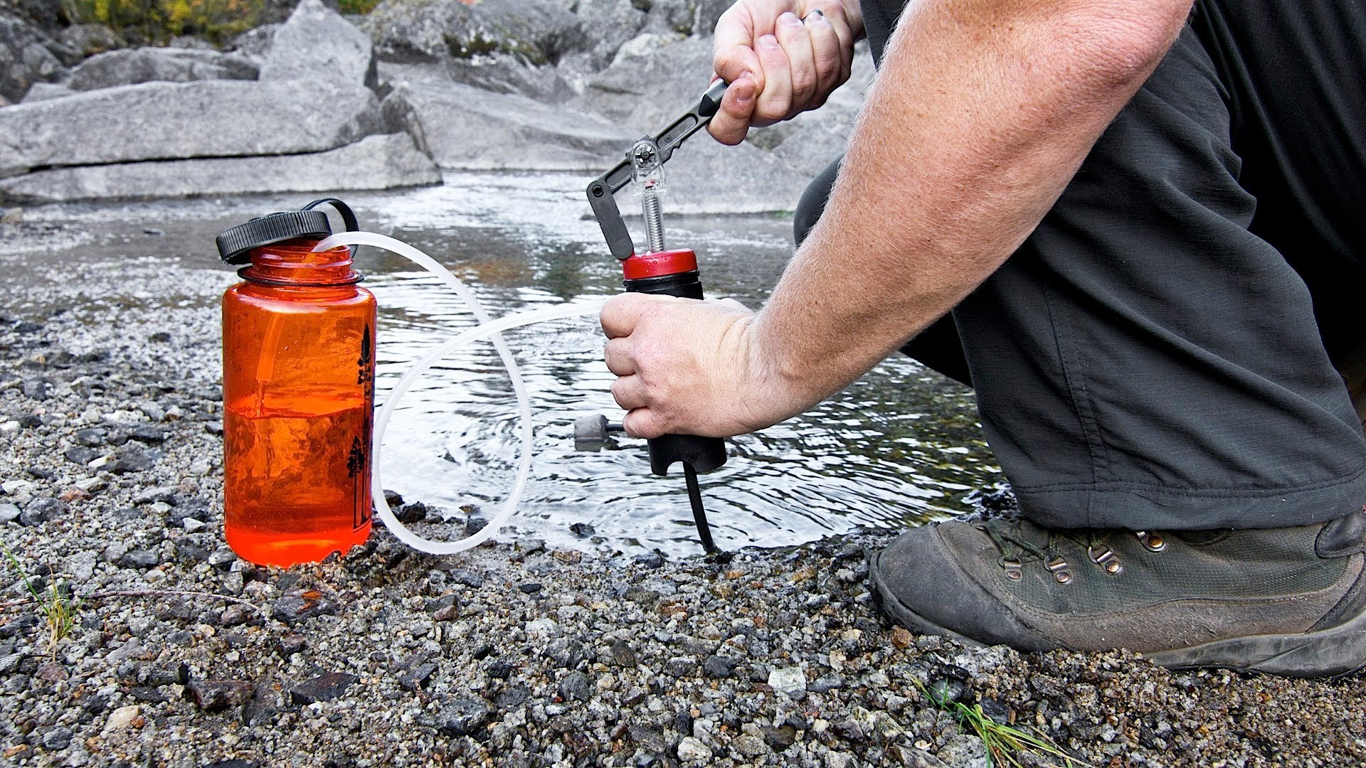 A water filter is a must have for your go bag