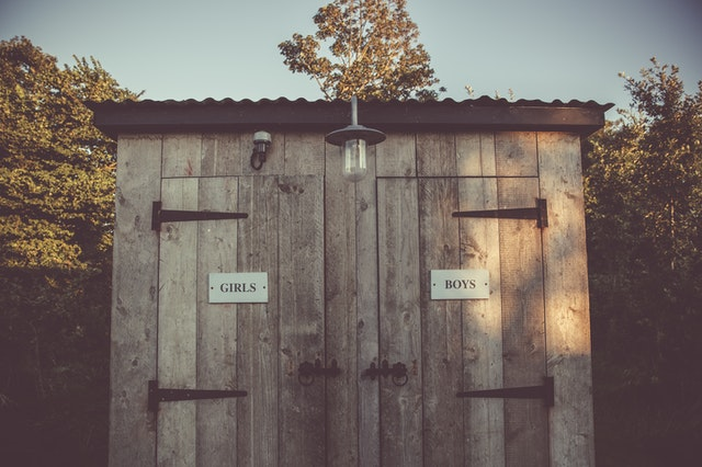 In a survival sanitation scenario, having an outhouse would be a luxury!