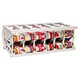 Large Food Organizer - Multiple Can Sizes - Designed for Canned Goods for Cupboard, Pantry and Cabinet Storage - Made in USA - Stores up to 60 Cans