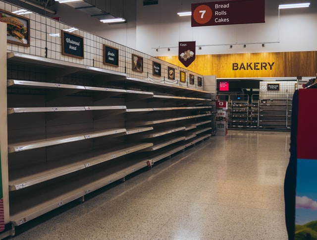 The main reason we stock our survival pantry is to prevent seeing this in a crisis.