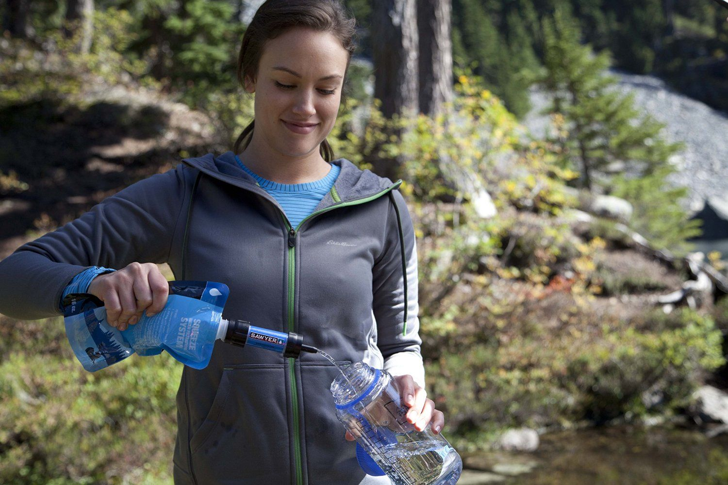 The Sawyer Mini is a great survival water filter for your bug out bag or day hike backpack