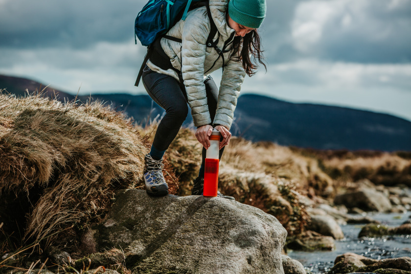 Grayl is a simple to use survival water filter.