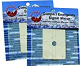 Best Glide ASE Compact, Military Grade, Stainless Steel, Emergency Signal Mirror (2 pack)